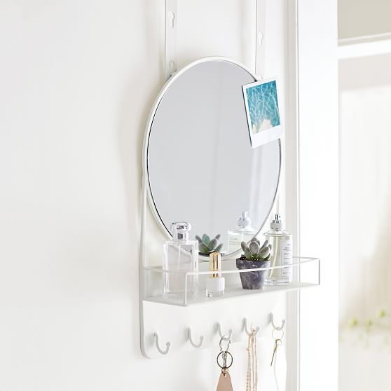 Over The Door Mirror With Storage
