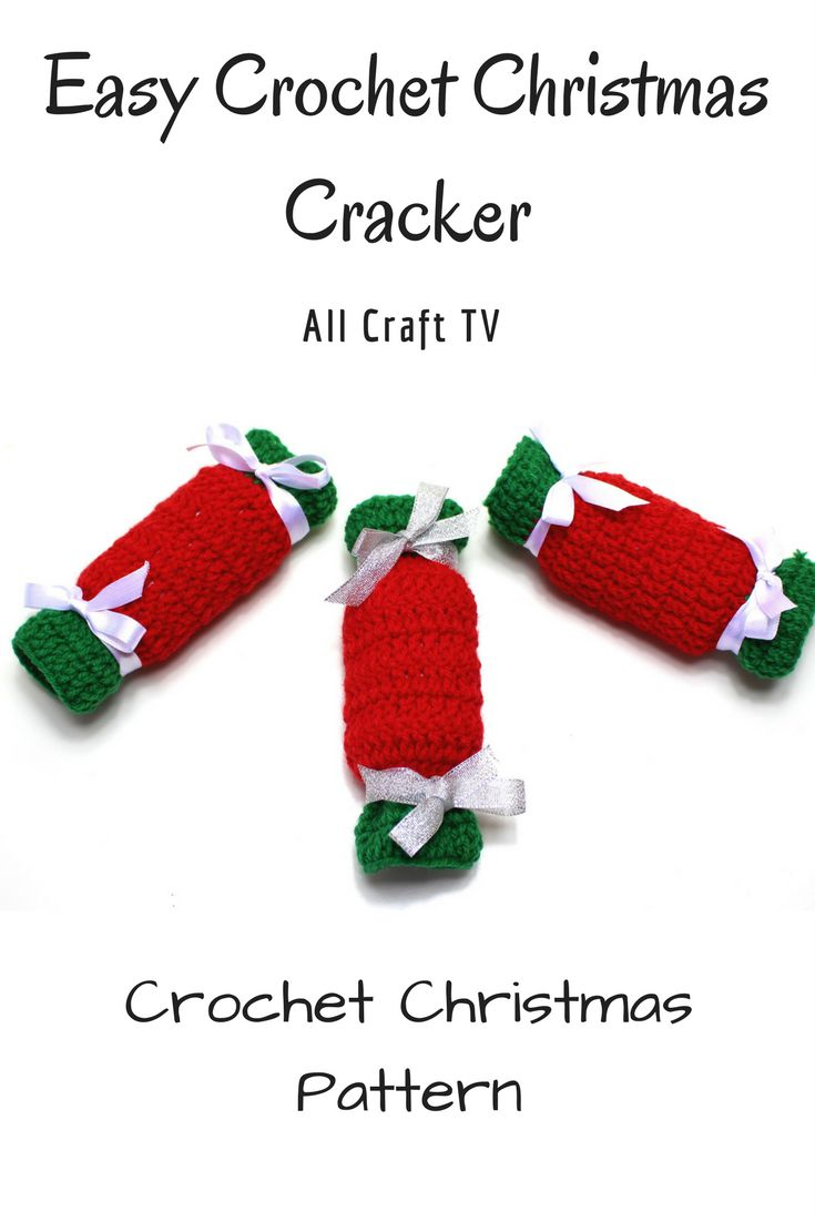 Crochet Christmas Cracker - Crochet Christmas Bonbon