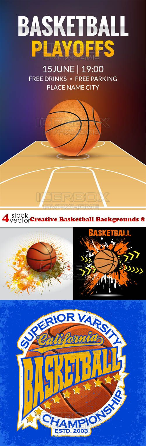 Download Vectors  Creative Basketball Backgrounds 8 Free