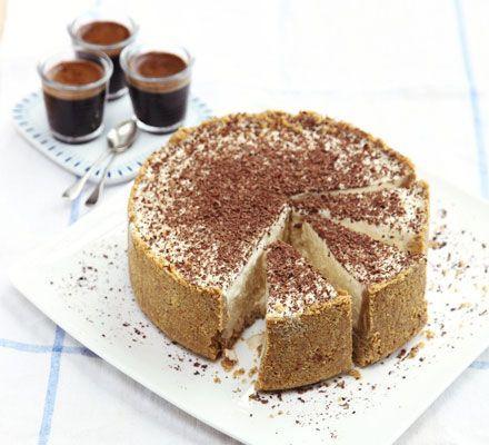 Frozen cheesecake with Baileys & chocolate