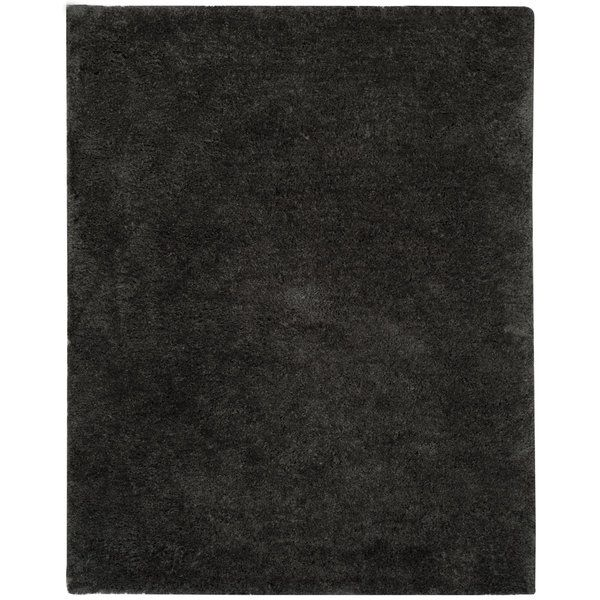 Safavieh Supreme Shag Dark Grey Rug (8' x 10')