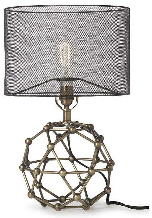 Regina Andrew Design 44-7834-BRS Brass Model Molecule Transitional Table Lamp RAD-44-7834-BRS