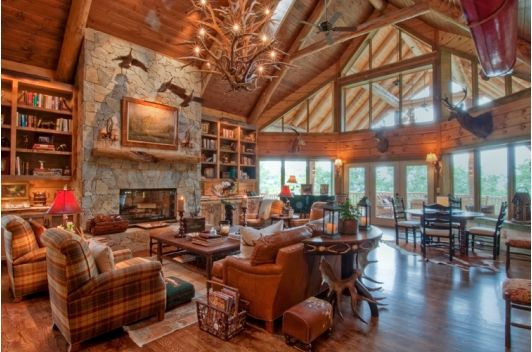 Luxury Living Room With Log Cabin Feel Home And Garden Design Idea 39 S