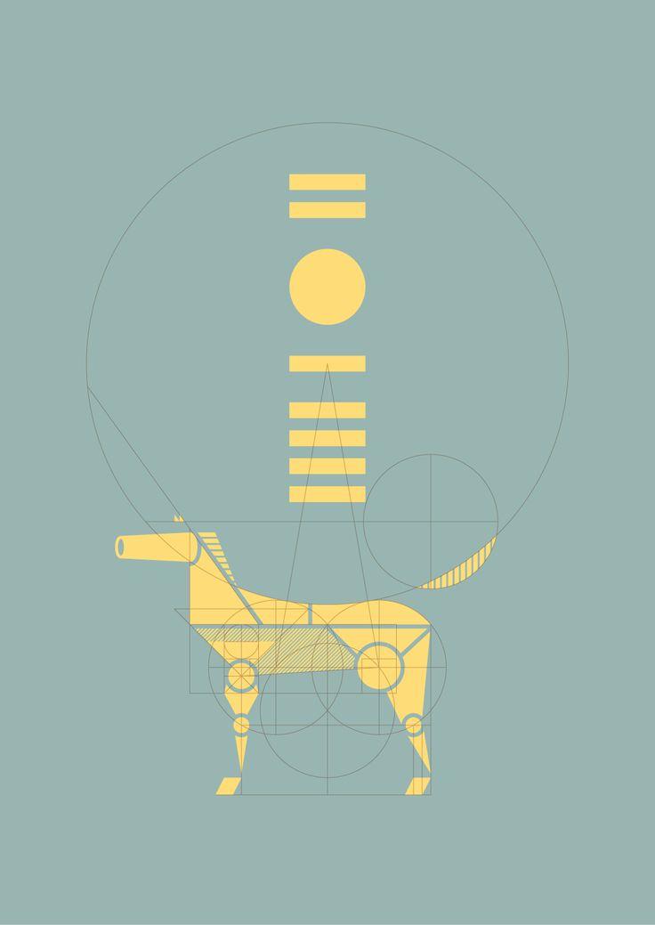 New Year card 2014 TOOL : illustrator 2014年の年賀状デザイン。 午年なので馬をモチーフにした。 2014は、計画性を持ち計算して活動したい という想いが込められている。