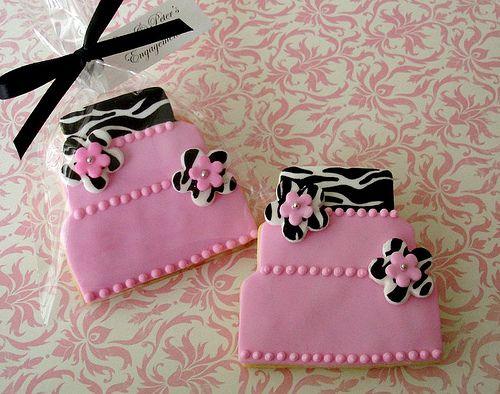 Zebra Print Cake - Cookie Favors