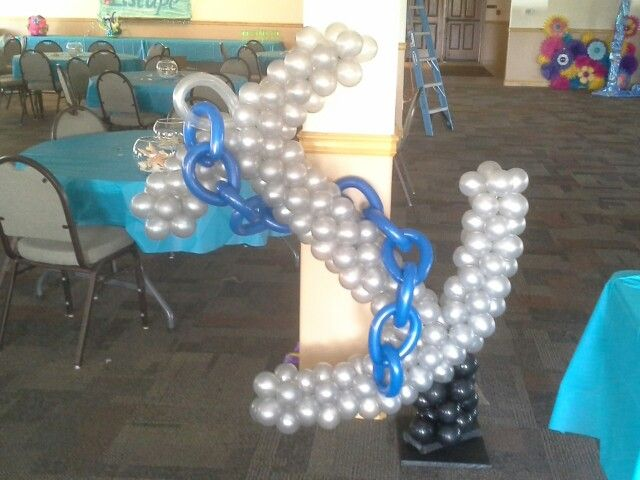 33 best images about nautical on pinterest for Anchor balloon decoration