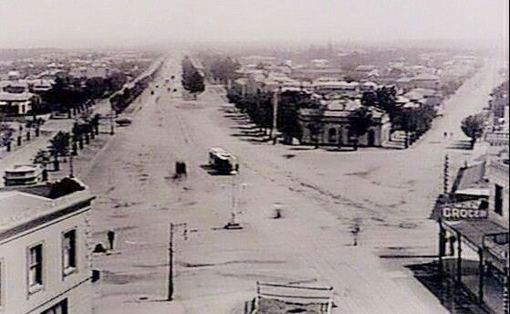 St Kilda Junction in Victoria, taken from the tower of the Junction Hotel in 1890.