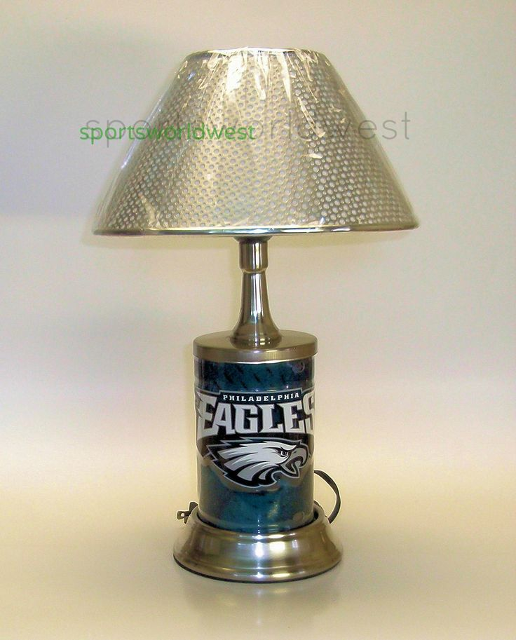 52 best custom nfl football lamps by calirado art images on philadelphia eagles lamp 3900 vivid team graphics silver polished stainless solid state quality metal reinforced lamp shade nfl licensed mozeypictures Image collections