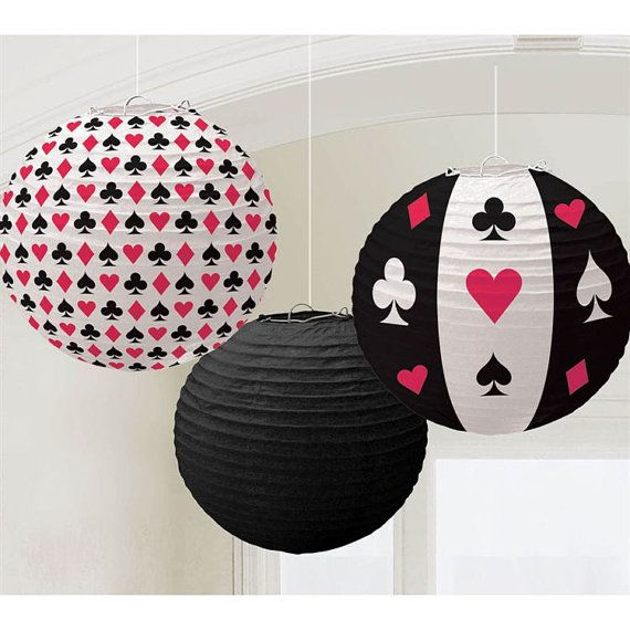 Paper lanterns Casino night  Alice in wonderland las vagas