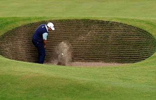The Road Hole Bunker at St. Andrews, it brings even the best golfers in the world to their knees.