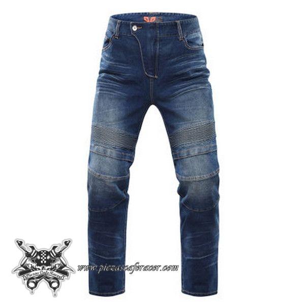 """Pantalones de Cuero Moto Para Circuito Modelo """"Moto Jeans"""" con Protecciones  Vaquero Azul o Negro - 115,74€ - ENVÍO GRATUITO EN TODOS LOS PEDIDOS"""