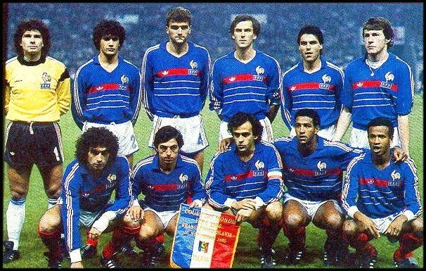 Equipos de fútbol: SELECCIÓN DE FRANCIA contra Yugoslavia 16/11/1985