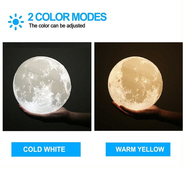 AmazonSmile: ACED 3D Printing 4.7Inch Moon Light Lamp Baby Night Light, Dimmable Color Changing, Touch Sensor Battery Operated LED Table Lamps Bedside for Bedrooms, Cool Christmas Gifts for Kids Teens: Baby #3dprinterkids