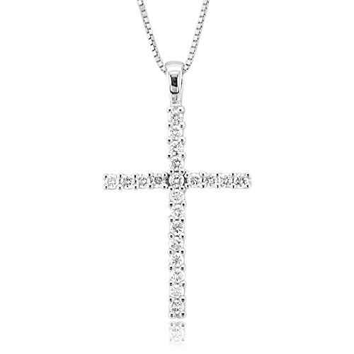 48 best diamond cross pendant necklace images on pinterest cross 025 carat cross diamond pendant necklace in 14k white gold gh i1 i2 aloadofball Image collections