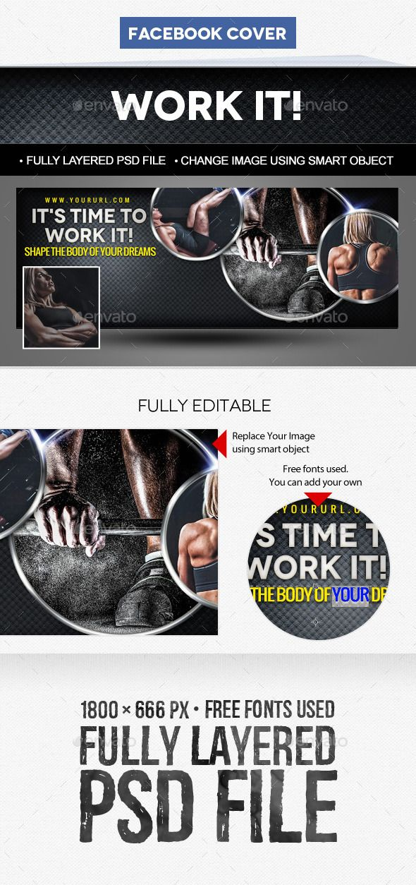 18 best Facebook Fitness Banner Images images on Pinterest - fitness templates free