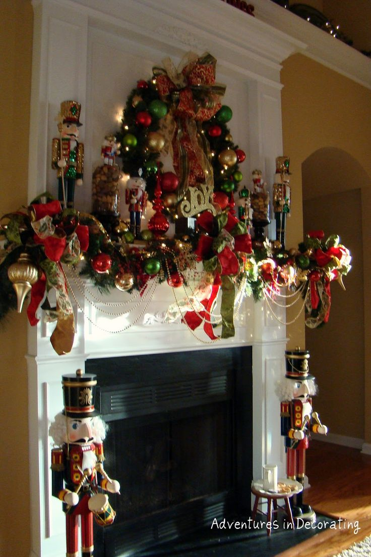 Extravagant fireplace steals the show stone fireplace for the spacious - Adventures In Decorating 2010 Christmas Wow Kandace This One Is For You Christmas Fireplace Mantels