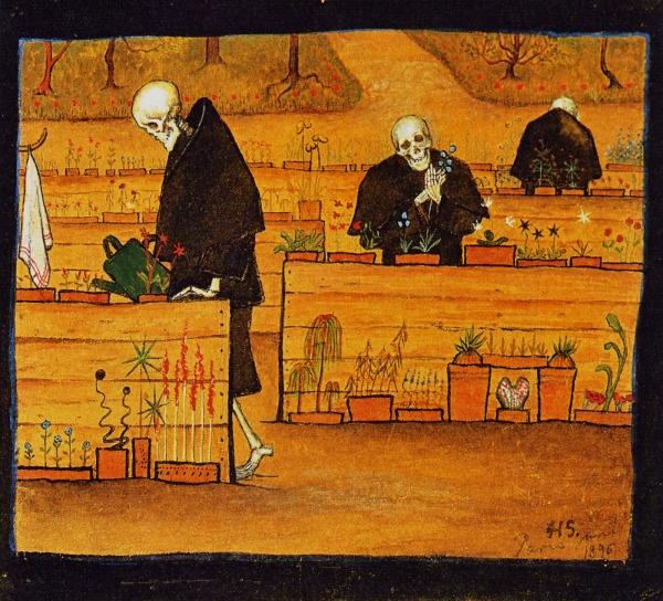 Garden of Death  1896 | Watercolour and gouache |   Simberg, Hugo | 1873-1917