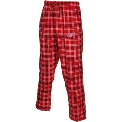Detroit Red Wings Countdown Knit Plaid Pajama Pants – Red/Black #myNHLWishListSweeps