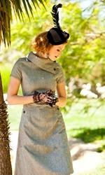 *Fold-over collar dress in a substantial wool/poly blend * Short sleeves with a back zipper and an A-line shape * Patch pockets with button detail *  Hand wash cold with like colors and line dry OR Dry Clean  As captivating and elegant as our favorite jungle feline, this vintage-inspired foldover collar dress is downtown chic with a lighthearted wild side. The statement neck and generous patch pockets are adorned with smart grey buttons, while the combination of black and white herringbone and tA Lin Dresses, Style, Black And White, Shabby Apples, Shorts Sleeve, Panthera Dresses, Collars Dresses, Wool, Folding Ov Collars