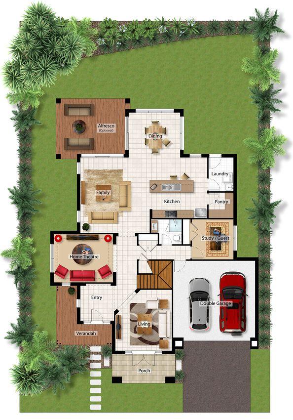 Ground Floor Plan 1246 best HousePlans images