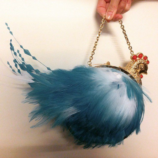 Chicken bag by Ulyana Sergeenko Spring-Summer Couture 2015