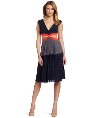 Women's Maddox Cut Out Dress  Color: Dark Ink Combo   polyester  Dry Clean Only  Pleated skirt  A-line silouette  Made in China  $258.00
