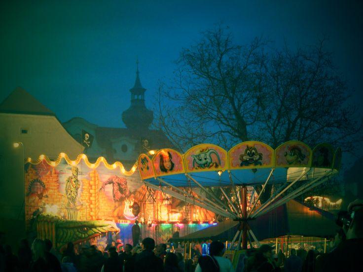 #Prague #Brevnov #october # celebration #autumn #brevnovmonastery #churchofstmargaret #fair #night #carousel