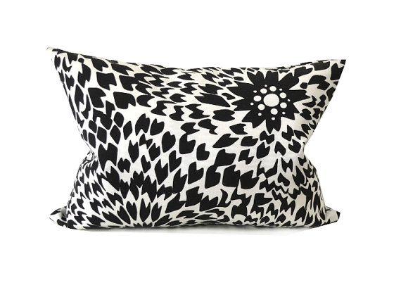 Missoni Black And White Pillow Cover Floral Dalia Print