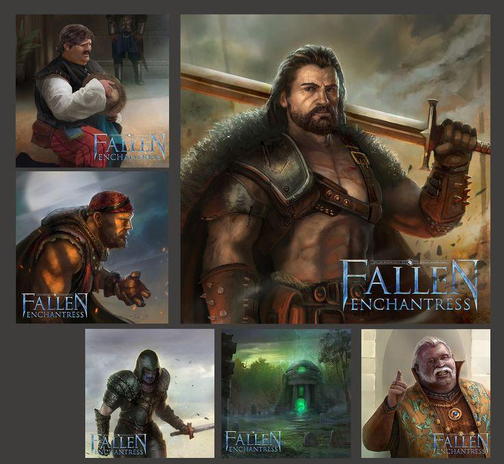 Fallen enchantress panels by TylerEdlinArt
