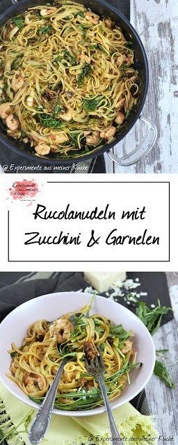 Rucolanudeln mit Garnelen   Rezept   Kochen   Pasta