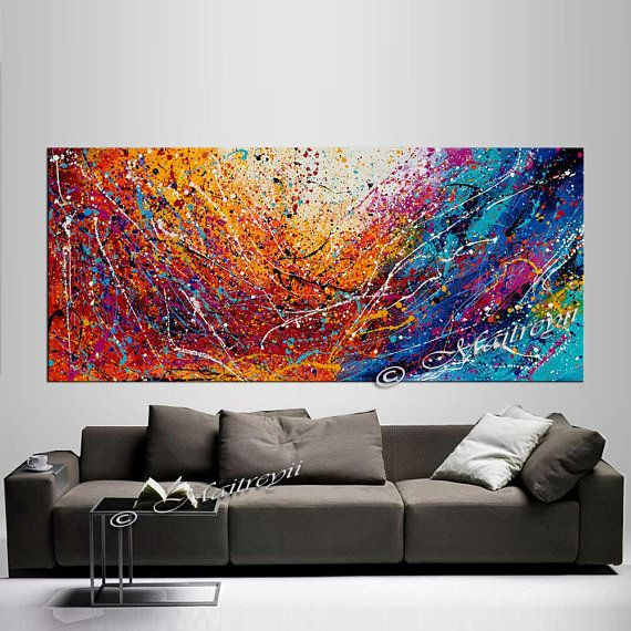 Jackson pollock  PAIN RE PRINT ON CANVAS WALL ART HOME DECORATION