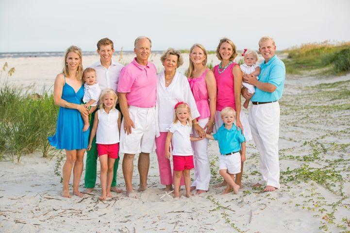 Multi Color Family Beach Portrait
