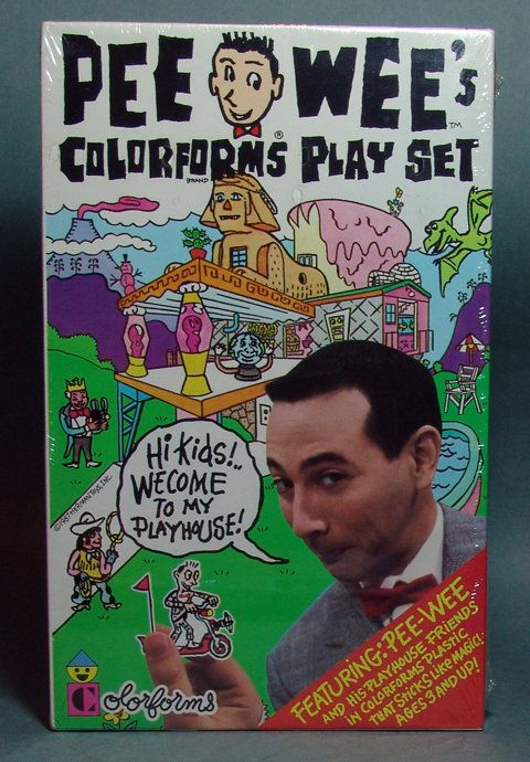 Pee Wee Herman Colorforms Set!!! I had this and I loved it!!!