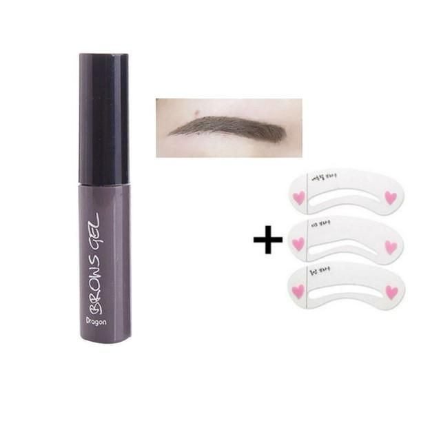 New Arrival Peel Off Eyebrow Gel + Eyebrow Stencil Long Lasting Natural Eyebrow Tint