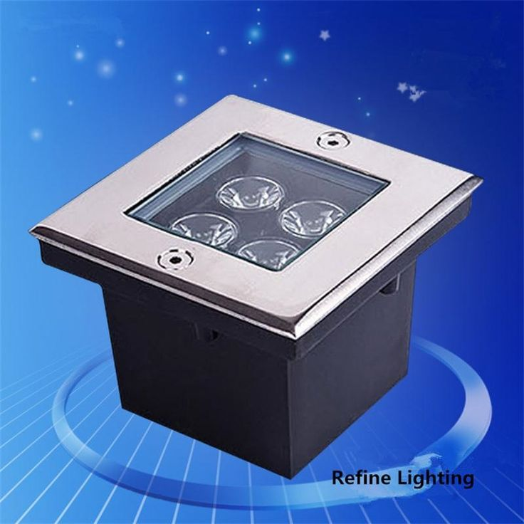 56.24$  Watch here - http://ali7pe.shopchina.info/go.php?t=32648907245 - LED Underground Light 4W Square Garden Floor Lamp IP65 Stainless Steel Outdoor Lighting Deck de Jardim LED Buried Lamp AC85-265V 56.24$ #aliexpress