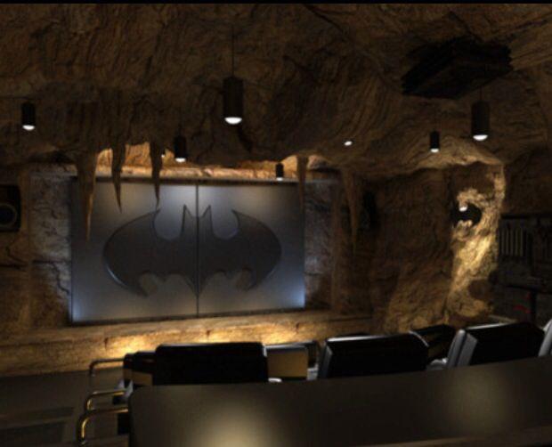 Man Cave Theater Room : Man cave theatre room bat cat girl pinterest