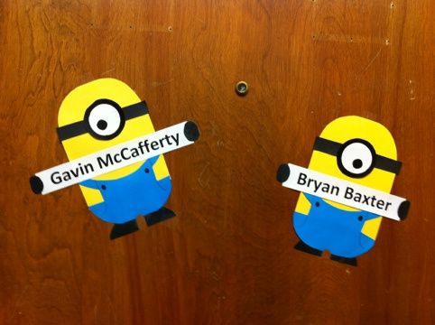My first craft. Dispiciable Me Minion Door Decorations