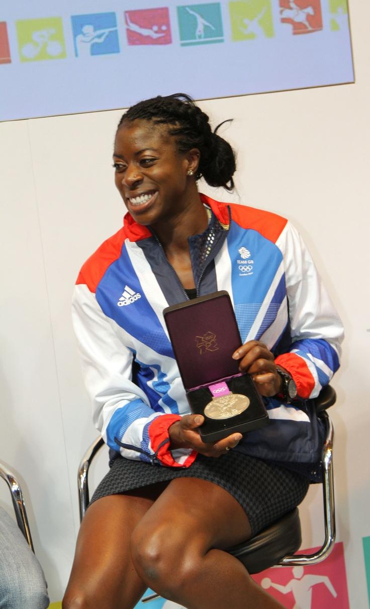Christine Ohuruogu, 400m Olympic medallist at LIW 2012.