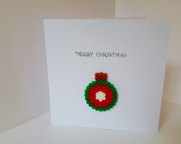 Bauble Christmas Card by NickyNackyNooGifts on Etsy