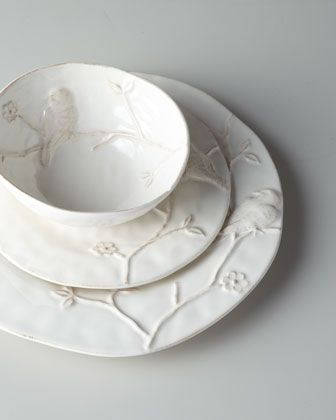 "$125  LOVE this!!! 12-Piece ""Bird on Branch"" Dinnerware Service at Horchow.  Need two sets."