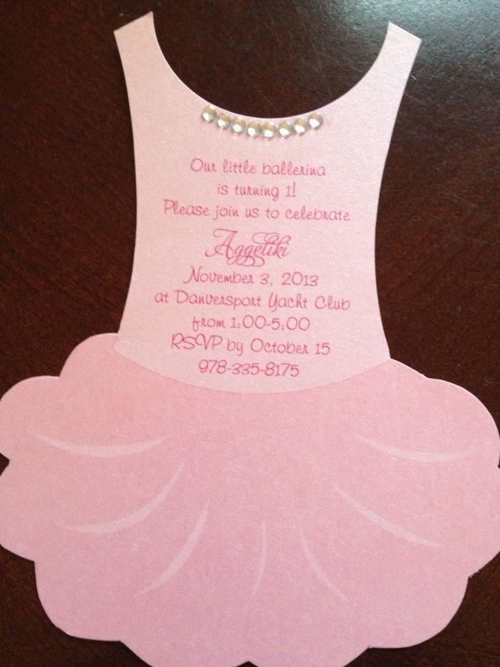 New to anaderoux on Etsy: Deposit for flat Tutu Baby shower invitation - Ballerina baby shower invitation (2.25 USD)