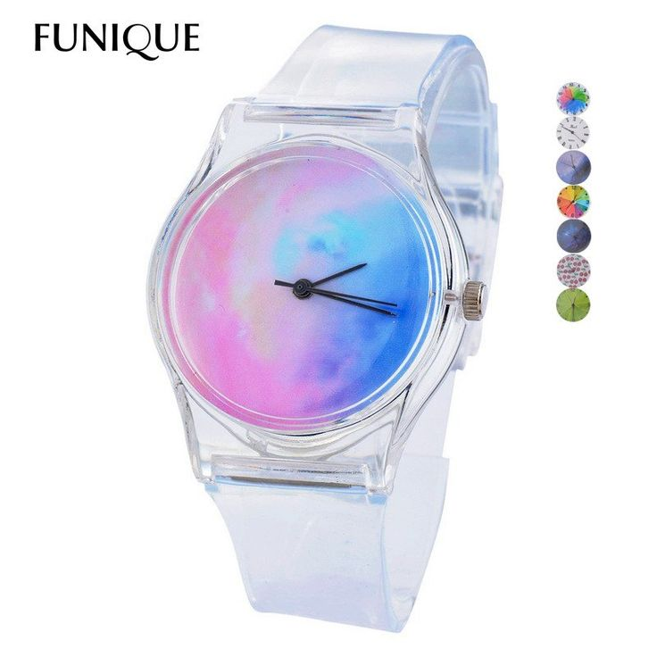 Transparent Silicone Women's Watches Women Wristband Sport Casual Quartz Wristwatches Novelty Crystal Ladies Watch Cartoon Reloj Mujer