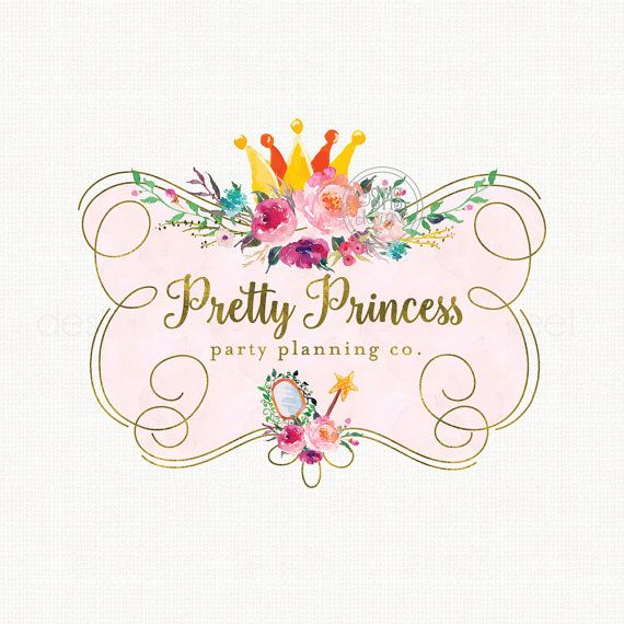 Crown Logo Design Party Logo Design by stylemesweetdesign on Etsy