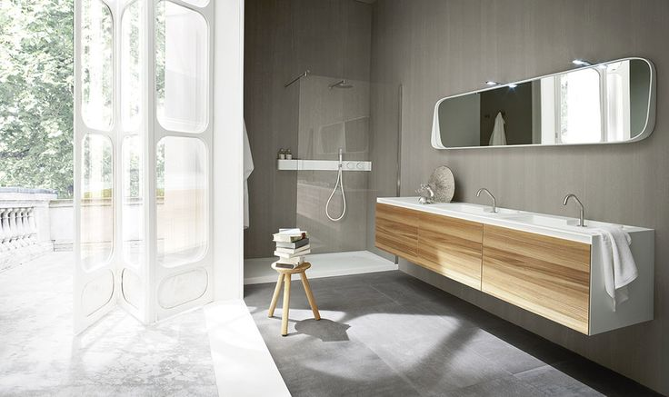 Ergo_nomic | Rexa Design: I like the colour palett and how the two tones of grey ceramic go with the white and the timber