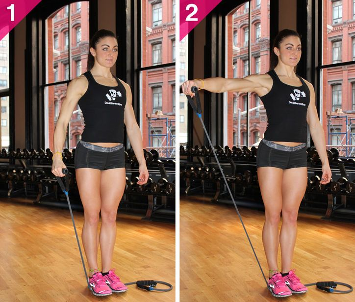 Grab your resistance band for lateral arm raises!