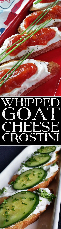 Whipped Goat Cheese Crostini