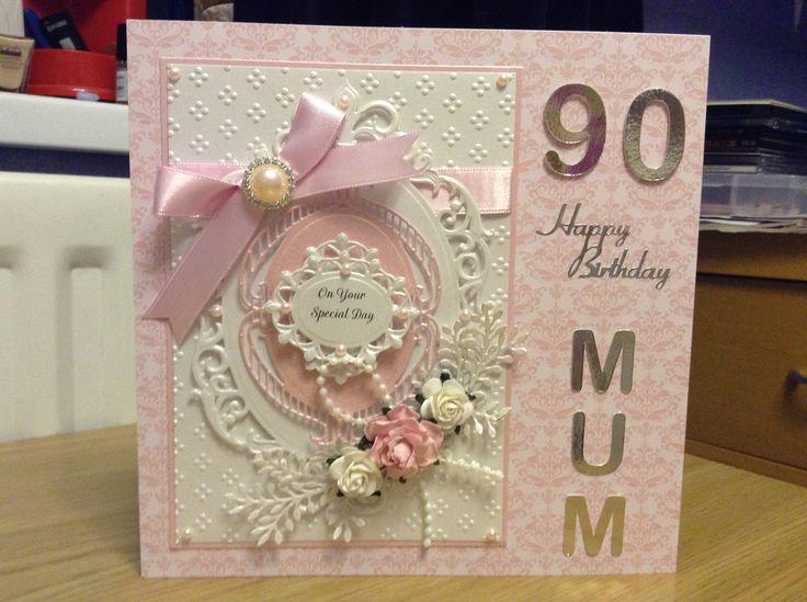 Card Making Ideas 90th Birthday Part - 23: 90th Birthday Card For A Mum. Craft Ideas90th ...