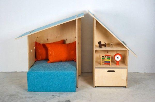 modulos infantiles Kinkeli 600x398 Kinkelihut y Kinkelihouse, unos muebles infantiles muy escandinavos.
