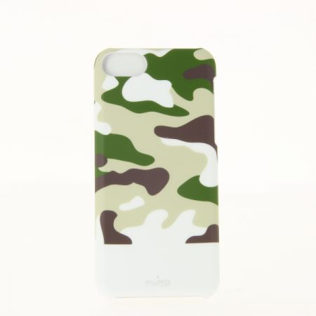 "Coque rigide ""Camouflage"" blanche pour iPhone 5C"