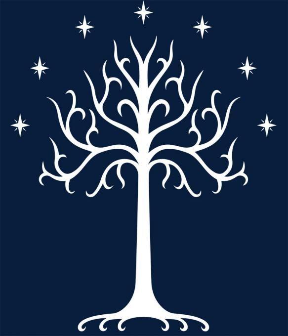Camiseta Arbol Blanco de Gondor. El Señor de los Anillos
